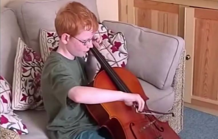Ed Sheeran was als kind al in de weer met muziek.