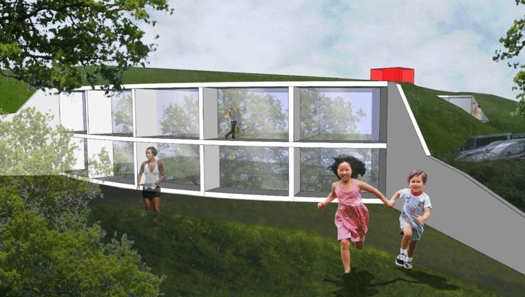 Het passiefgebouw zal tien privékamers tellen voor maximaal vier personen. Beeld Ronald McDonald-fonds