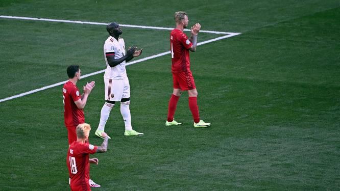 """Rode Duivels en Denen brachten eerbetoon aan Christian Eriksen, die ploegmaats looft: """"Jullie waren ongelofelijk goed"""""""