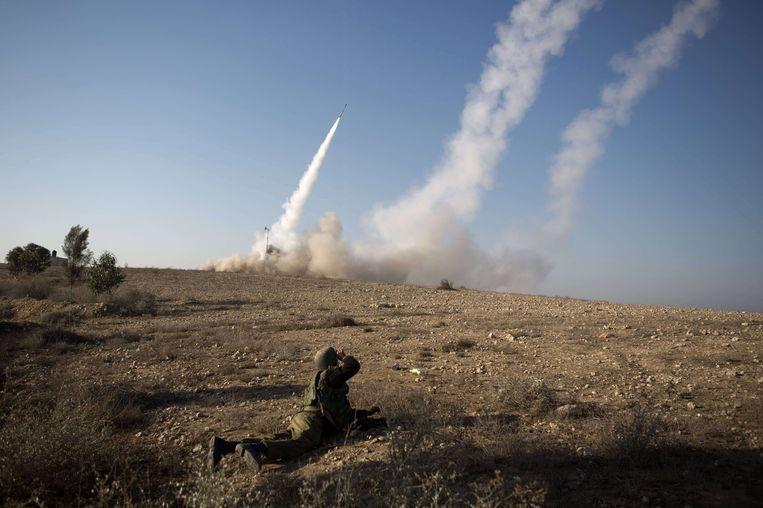 Het raketafweersysteem IJzeren Koepel. Beeld AFP