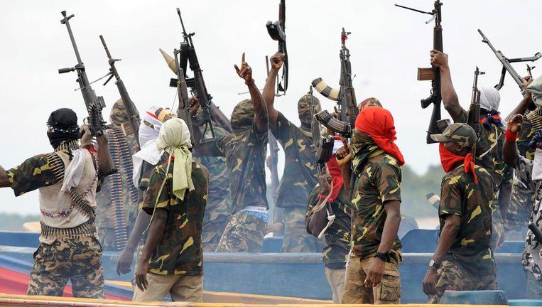 Militanten uit de Niger Delta. Beeld Archiefbeeld AFP