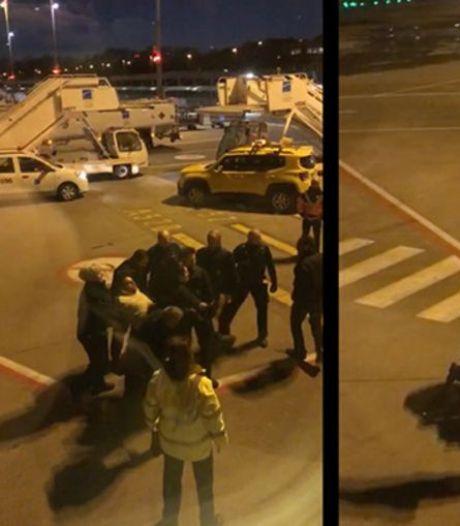 L'interpellation de Jozef Chovanec reconstituée à l'aéroport de Charleroi