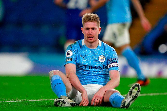Kevin de Bruyne op 3 januari tijdens Chelsea - Manchester City. Beide clubs stappen nu uit het zwaar bekritiseerde Super League-project.