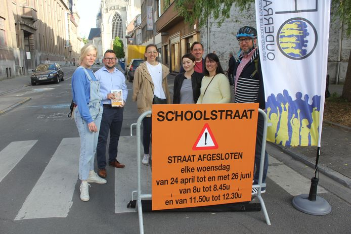 De ouderraad van het Sint-Jozefscollege is blij met de eerste dag van de schoolstraat.