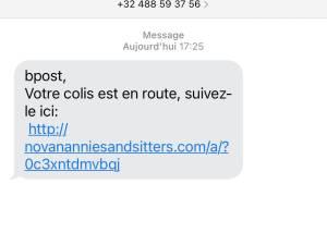 """""""Votre colis est en route"""" : ne répondez pas à ce faux SMS de bpost"""