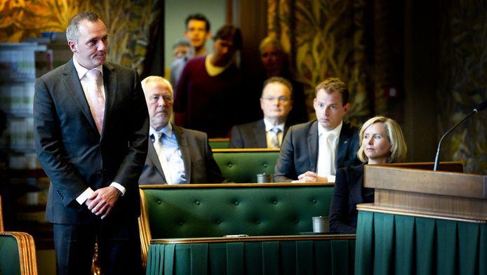 Machiel de Graaf van de PVV voorafgaand aan zijn eed, in juni 2011