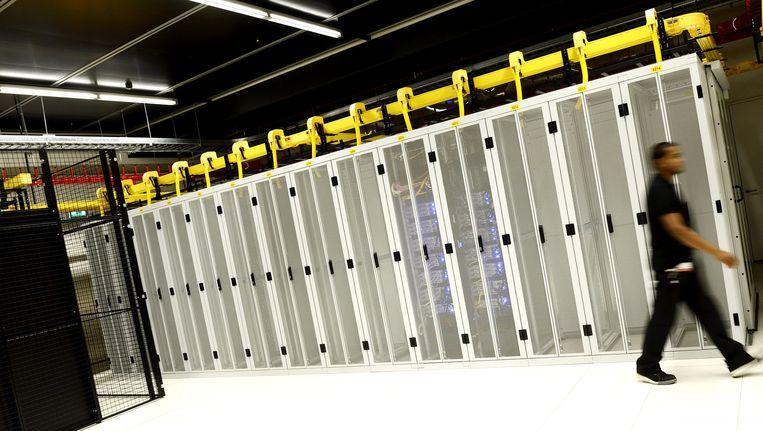Servers van de rijksoverheid bij het berijf Equinix. Beeld anp