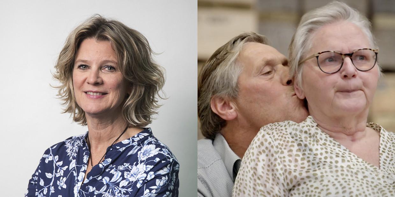 Vader Klaas Schouten met zijn vrouw Jolanda, die een hersenbloeding heeft gehad.  Beeld