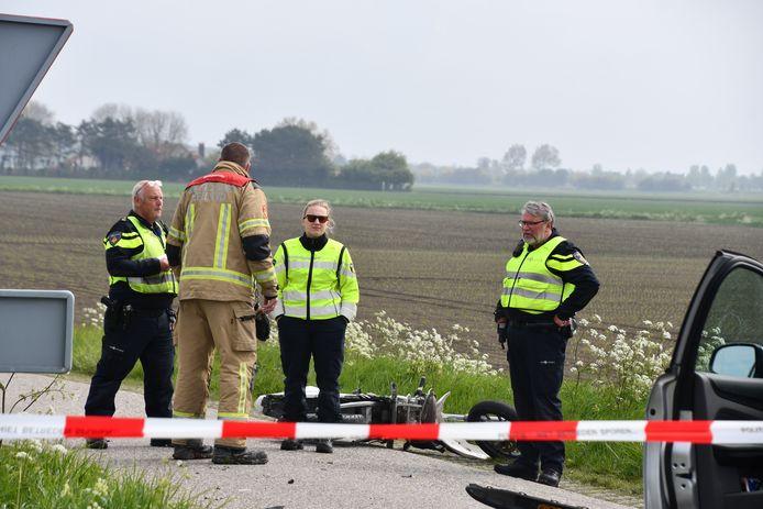 Bij een ongeluk in Cadzand is een scooterrijder ernstig gewond geraakt.
