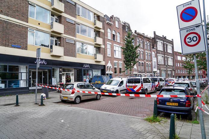 In verband met het onderzoek werd de Insulindestraat afgezet door de politie.