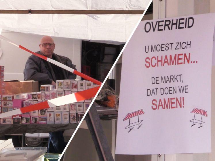 Non-food verkopers staan als protest toch op de markt: 'Winkelen in de buitenlucht is goed te doen'