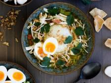Wat Eten We Vandaag: Soto ajam met ei en gebakken uitjes