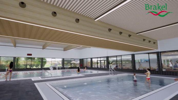 Het zwemcomplex krijgt een 25 meter bad en een instructiebad...