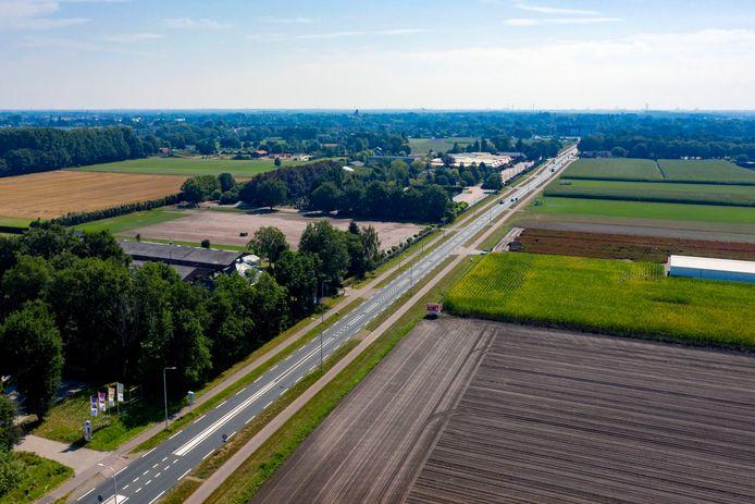 Een foto van het buitengebied bij Dongen en Oosterhout.