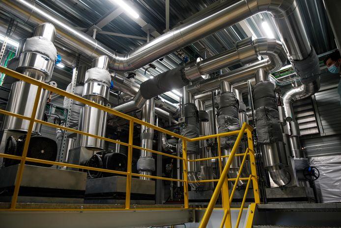 De distributiecentrale van het warmtenet in Agfa-Gevaert.