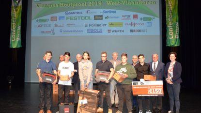 Mateusz Baska en Keanu Duytschaever scoren tijdens provinciale prijsuitreiking Vlaamse Houtproef