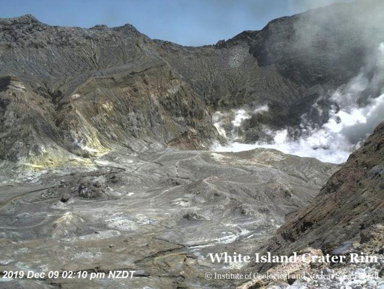 White Island, vlak voor de uitbarsting. Beeld GNS SCIENCE VIA REUTERS