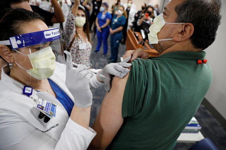 Het Pfizer-vaccin is al toegelaten in het Verenigd Koninkrijk, de Verenigde Staten en Canada. Beeld Reuters