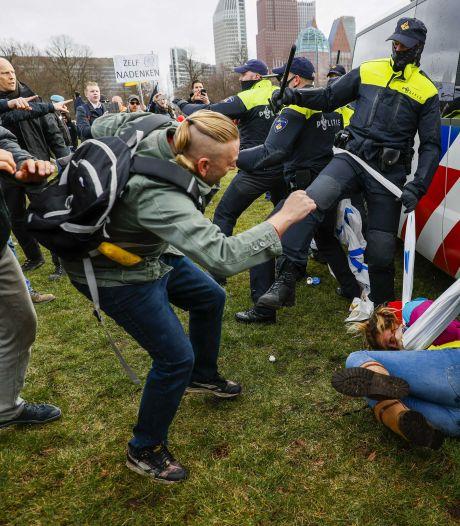 Arrestaties en gewonden bij demonstratie op Malieveld