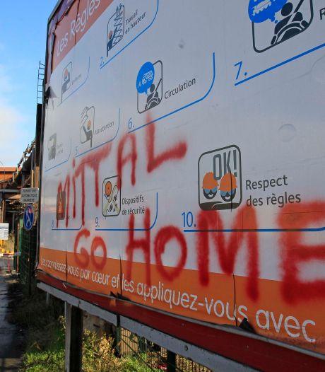 Des milliers de manifestants d'ArcelorMittal à Namur