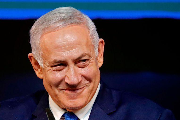 De Israëlische premier en leider van Likud Benjamin Netanyahu. Beeld AFP