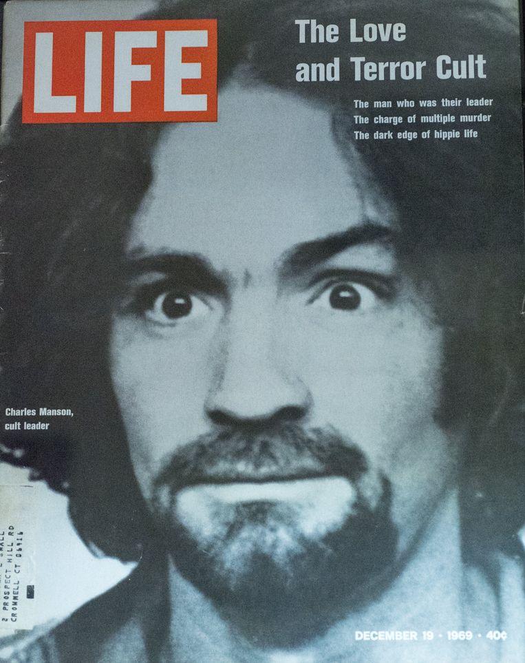 Charles Manson op de cover van Life op 19 december 1969. Beeld Photo News