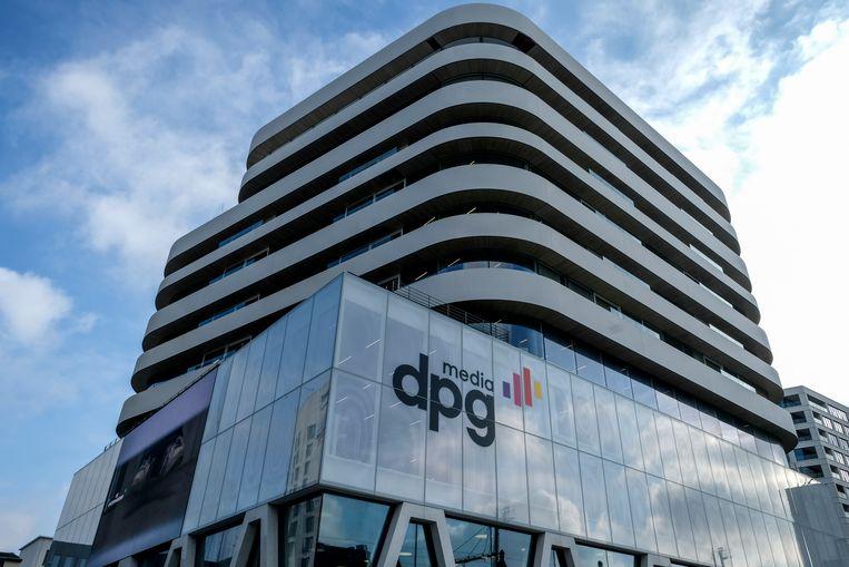 Het gebouw van DPG Media in Antwerpen. Beeld BELGA