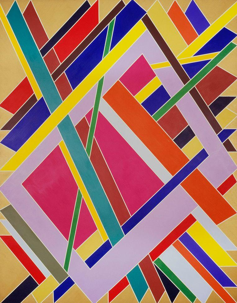 'Trane' van William T. Williams (1969). Beeld rv © William T. Williams, courtesy of Michael Rosenfield Gallery LLC. New York NY