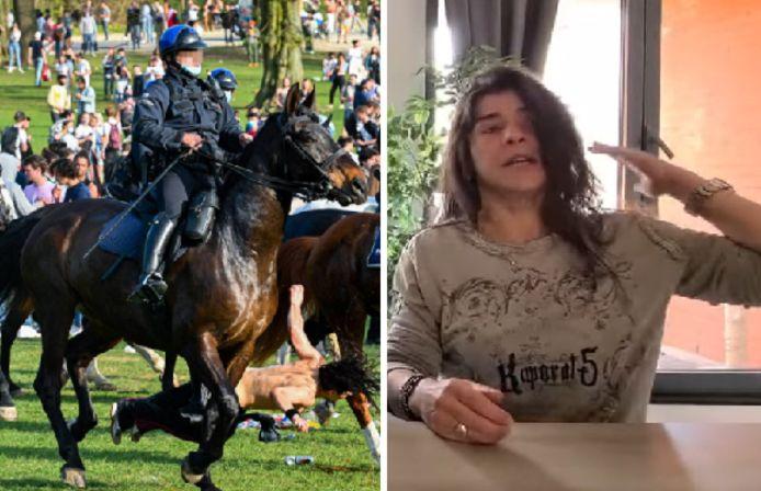 Barbara a été percutée par un cheval de la police au cours de La Boum, le faux festival qui a dégénéré dans le Bois de la Cambre.