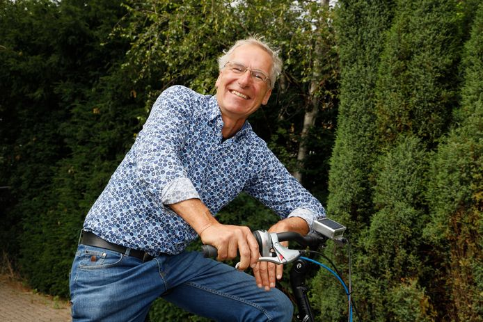 Wethouder Leo Bosland, duurzaam op de fiets.
