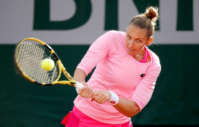 Pliskova eerder dit jaar tijdens Roland Garros.