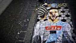 Napolitaanse straatartiest brengt op prachtige wijze hulde aan Dries Mertens
