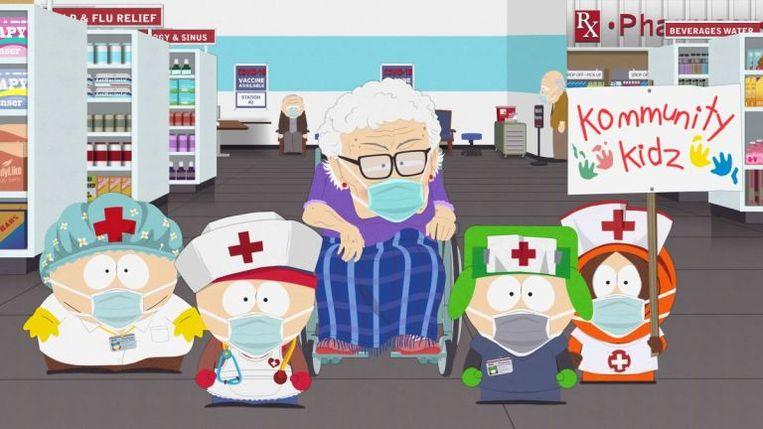 Beeld uit de vaccinatiespecial van 'South Park'. Beeld rv