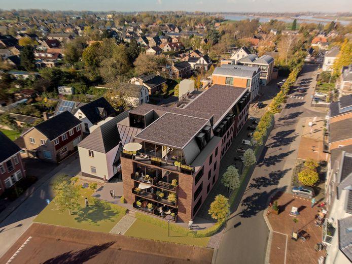 Zo moet het appartementencomplex er uit komen te zien.