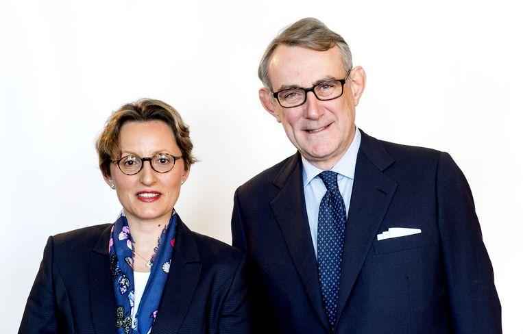 Laurence Debroux (links) en CEO Jean-Francois van Boxmeer. Beeld ANP