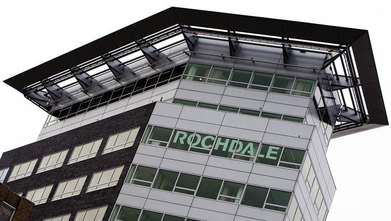 Exterieur van het hoofdkantoor van woningcorporatie Rochdale in Amsterdam. Beeld ANP