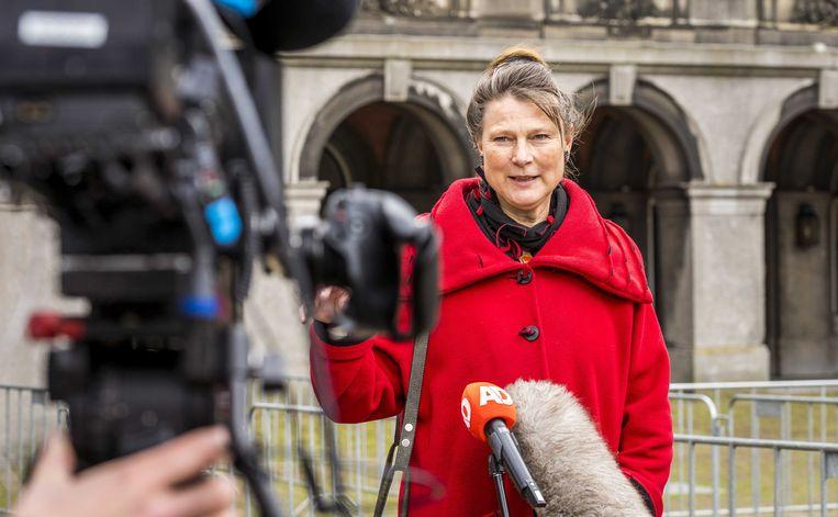 Marjan Minnesma van Urgenda ging eind mei op bezoek bij informateur Hamer.  Beeld ANP