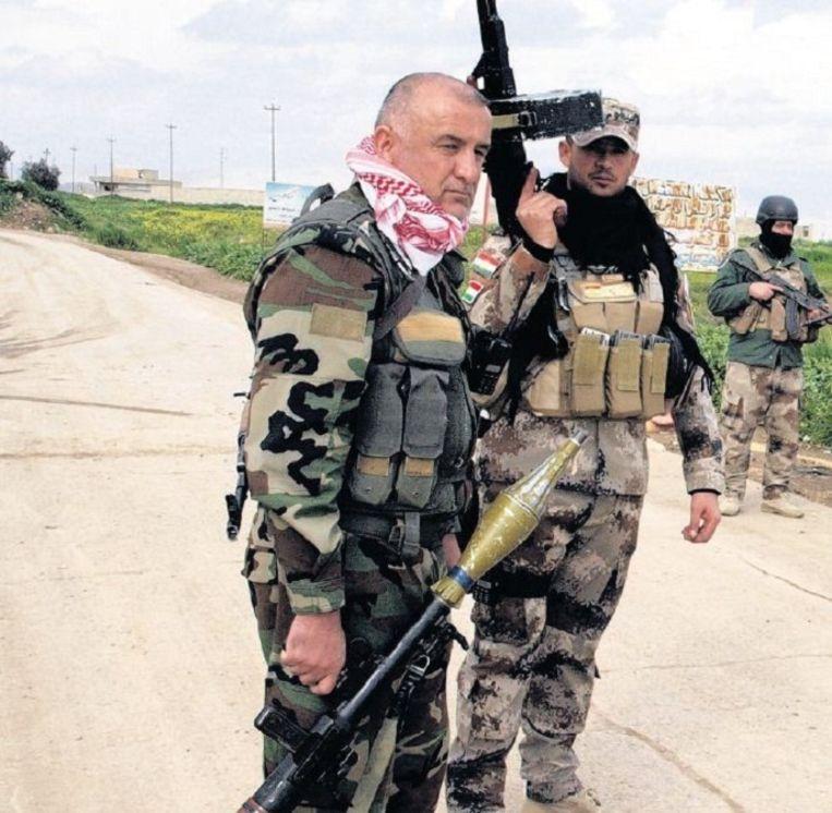 Koerdische strijders in Telleskof. Beeld Judit Neurink