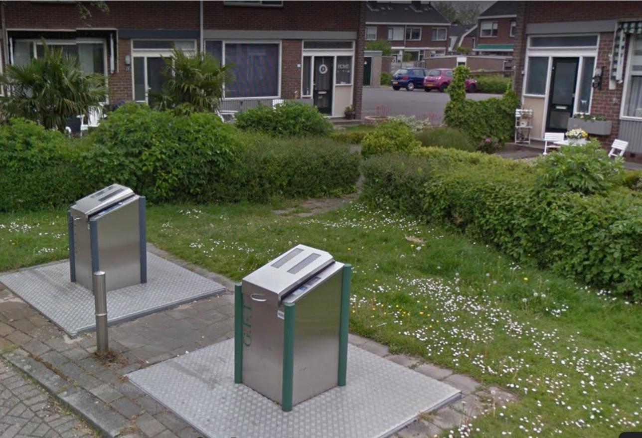 In de containers voor restafval in de Jacob Catsstraat in Hendrik-Ido-Ambacht komen nog even veel keukenresten terecht als voor de proef.