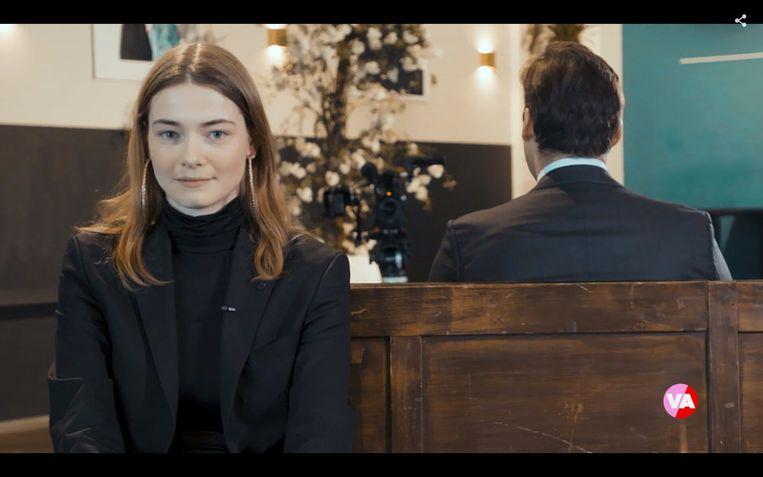 Emma Wortelboer interviewt FvD-leider Thierry Baudet in 'Emma's motie van vertrouwen'. Beeld BNNVARA