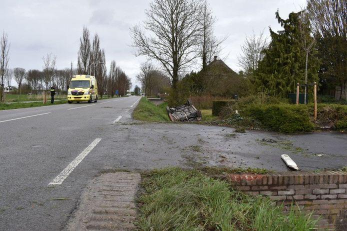Een automobiliste is woensdagmiddag gewond geraakt bij een ongeval op de Krakkedel (N838) in Doornenburg.