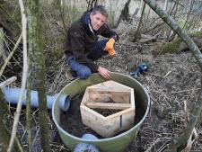Lossernaar Peter Steffens bouwt mee aan bijzondere schuilplaats voor otters; 'Geen tocht in de kraamkamer'