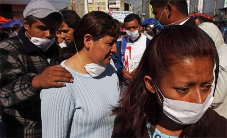 Als voorzorgsmaatregel hebben de autoriteiten alle grote openbare evenementen in Mexico-stad afgelast. Foto AP Beeld