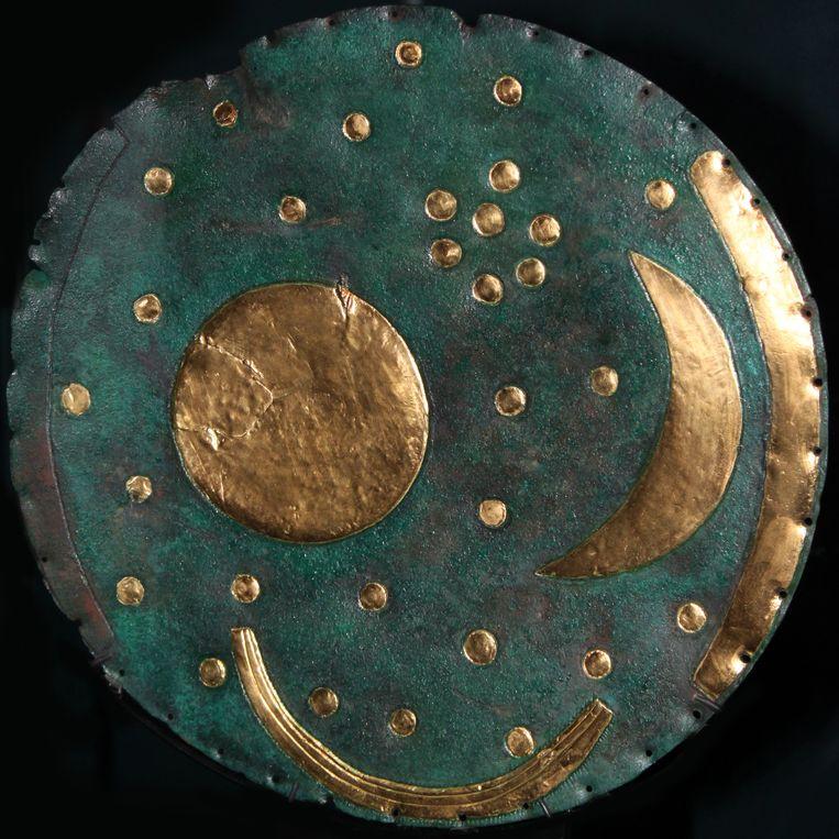 De hemelschijf van Nebra, ca. 1600. Beeld Heritage Images/Getty Images