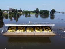 Een heel bijzonder uitzicht vanaf de hoofdtribune van voetbalclub Wilhelmina'26