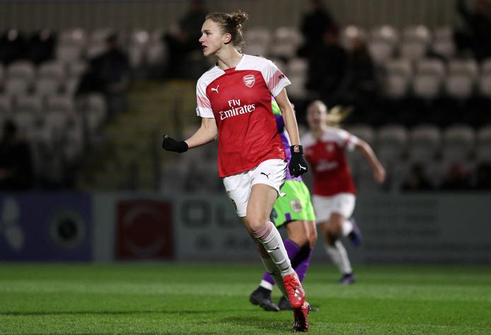 Vivianne Miedema heeft een van haar drie goals gemaakt tegen Bristol City.