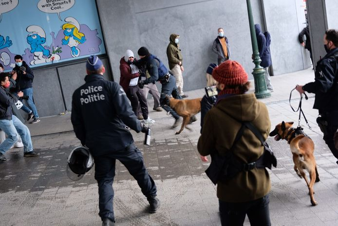 Pas na betoging loopt het mis met herrieschoppers