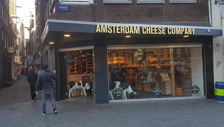 De Cheese Company winkel aan het Damrak. Beeld .