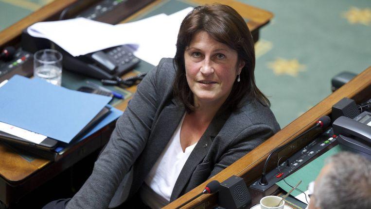 Minister van Mobiliteit Jacqueline Galant. Beeld BELGA