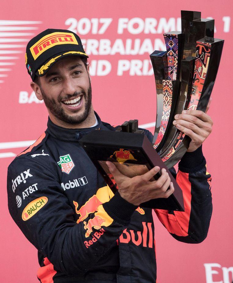 Ricciardo won vorig jaar de GP van Azerbeidjan. Beeld epa